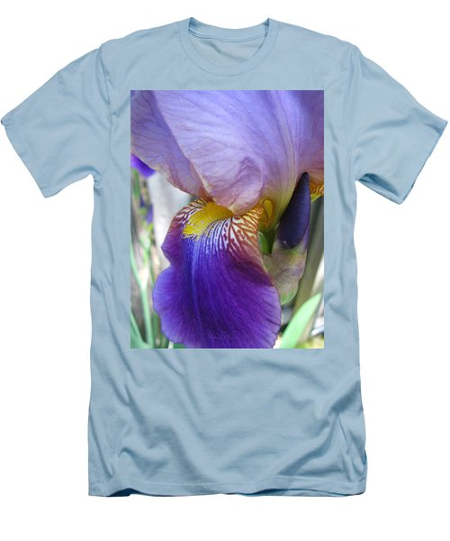 Iris Blossom And Bud Men's T-Shirt (Athletic Fit)