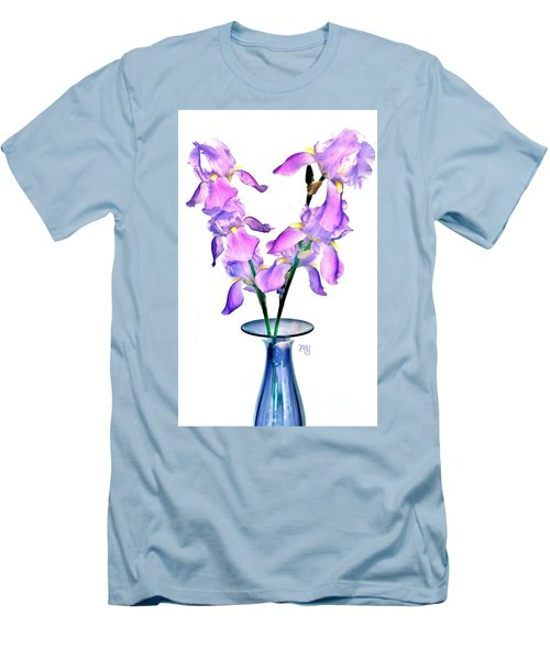 Iris Still Life In A Vase Men's T-Shirt (Athletic Fit)
