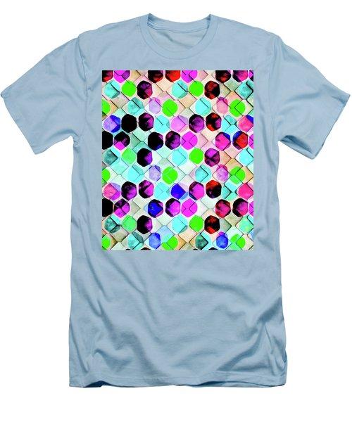 Irregular Hexagon Men's T-Shirt (Slim Fit) by Uma Gokhale