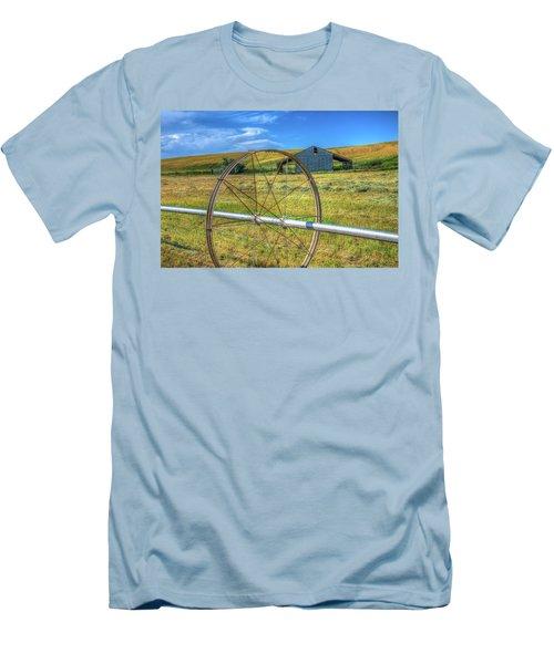 Irrigation Water Wheel Hdr Men's T-Shirt (Slim Fit) by James Hammond