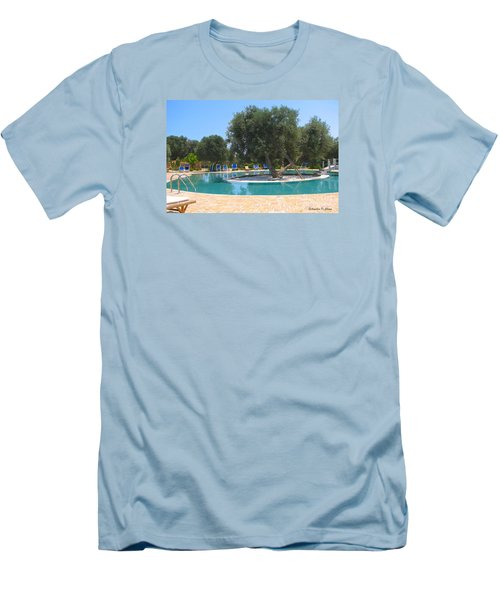 Italy Resort- Olive Tree In Pool Men's T-Shirt (Athletic Fit)