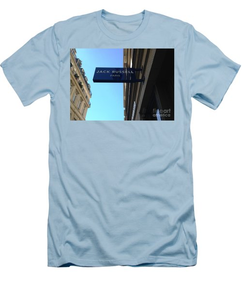 Men's T-Shirt (Slim Fit) featuring the photograph Jack Russell Paris by Therese Alcorn