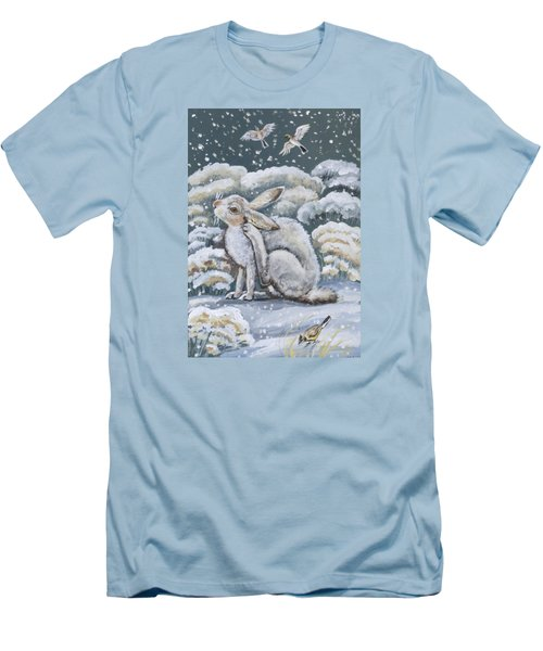 Jackrabbit And Horned Larks Men's T-Shirt (Athletic Fit)