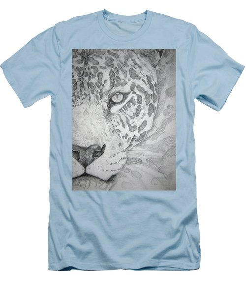Jaguar Pointillism Men's T-Shirt (Athletic Fit)
