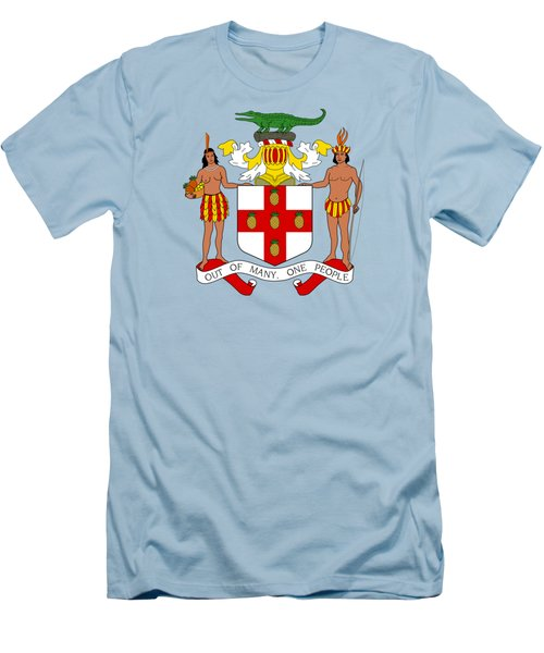 Jamaica Coat Of Arms Men's T-Shirt (Slim Fit) by Movie Poster Prints