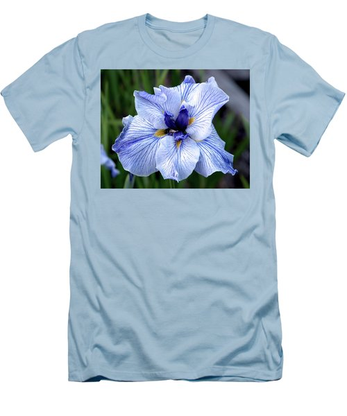 Japanese Water Iris In Blue 2695 H_3 Men's T-Shirt (Athletic Fit)