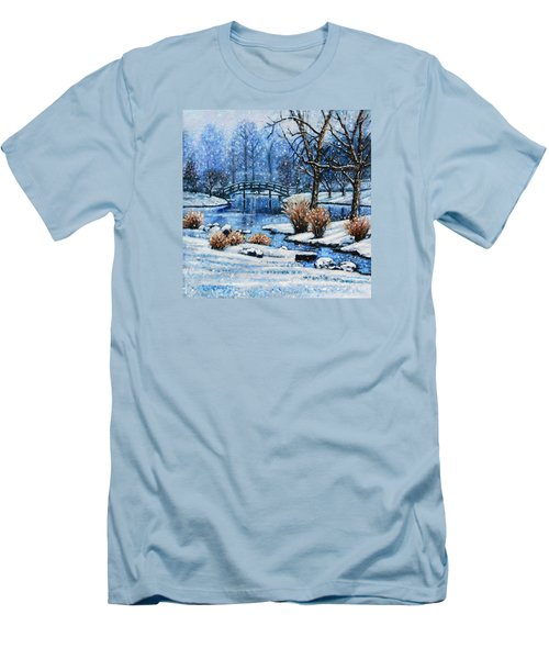 Japanese Winter Men's T-Shirt (Slim Fit) by John Lautermilch