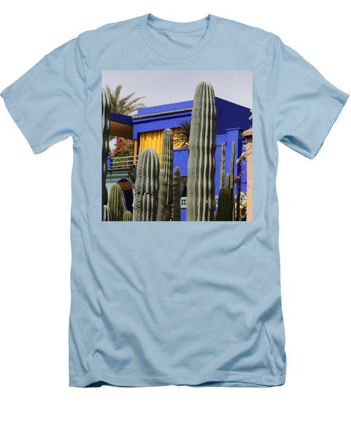 Men's T-Shirt (Slim Fit) featuring the photograph Jardin Majorelle 5 by Andrew Fare