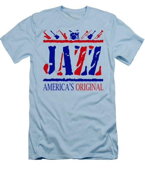 Jazz Americas Original Men's T-Shirt (Slim Fit) by David G Paul
