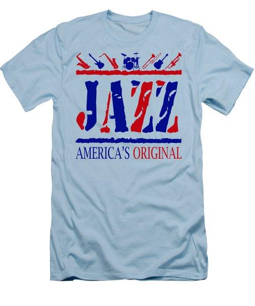Jazz Americas Original Men's T-Shirt (Slim Fit) by David G Paul