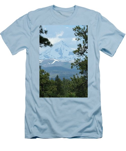 Men's T-Shirt (Slim Fit) featuring the photograph Jefferson Pines by Laddie Halupa