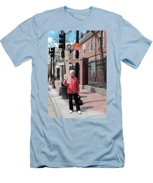 Jesus Is Savior Men's T-Shirt (Athletic Fit)
