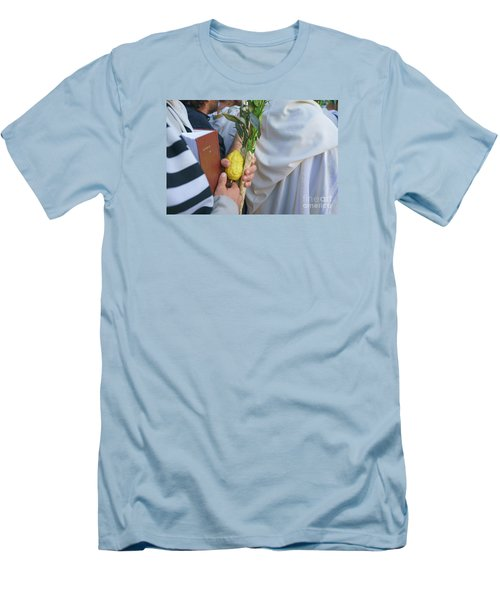 Jewish Sunrise Prayers At The Western Wall, Israel 12 Men's T-Shirt (Athletic Fit)
