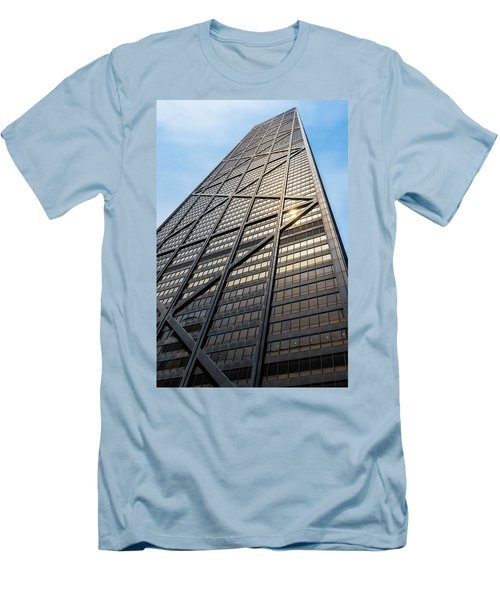 John Hancock Center Chicago Men's T-Shirt (Slim Fit) by Steve Gadomski