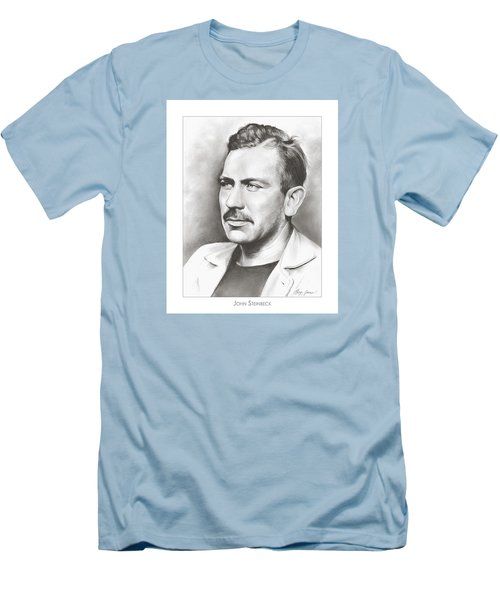 John Steinbeck Men's T-Shirt (Slim Fit) by Greg Joens