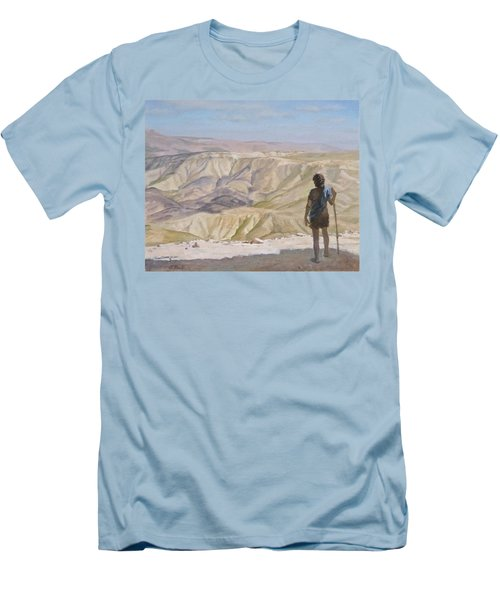 John The Baptist In The Desert Men's T-Shirt (Slim Fit)