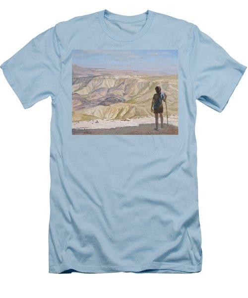 John The Baptist In The Desert Men's T-Shirt (Athletic Fit)