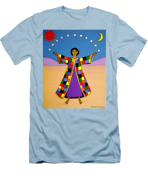 Joseph And His Coat Of Many Colours Men's T-Shirt (Slim Fit) by Stephanie Moore