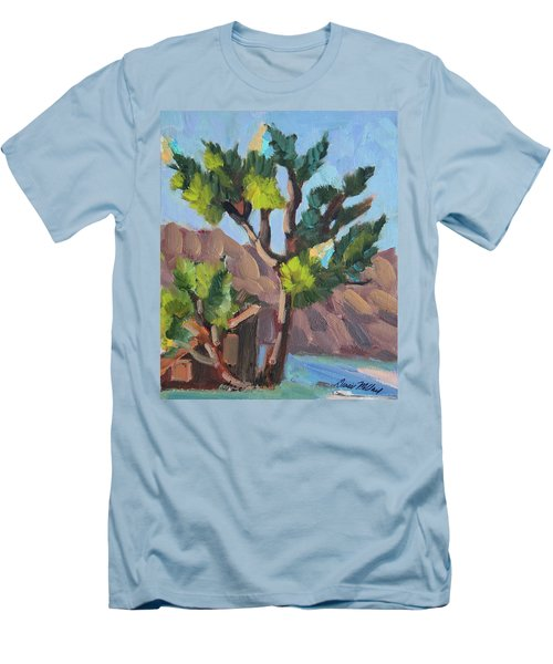 Men's T-Shirt (Slim Fit) featuring the painting Joshua At Keys Ranch by Diane McClary