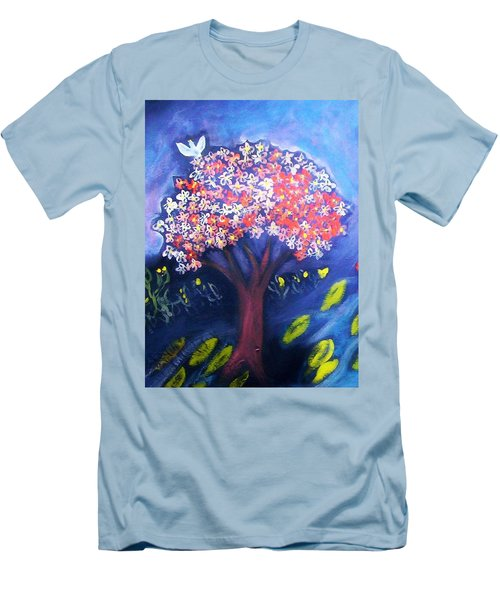 Men's T-Shirt (Slim Fit) featuring the painting Joy by Winsome Gunning
