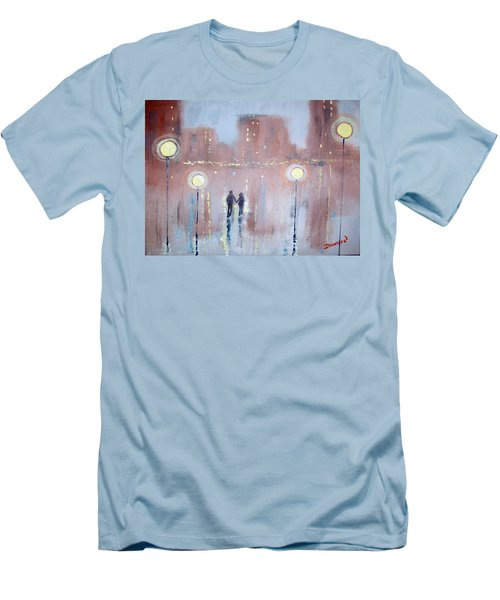Men's T-Shirt (Slim Fit) featuring the painting Joyful Bliss by Raymond Doward