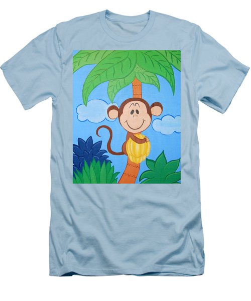 Jungle Monkey Men's T-Shirt (Athletic Fit)