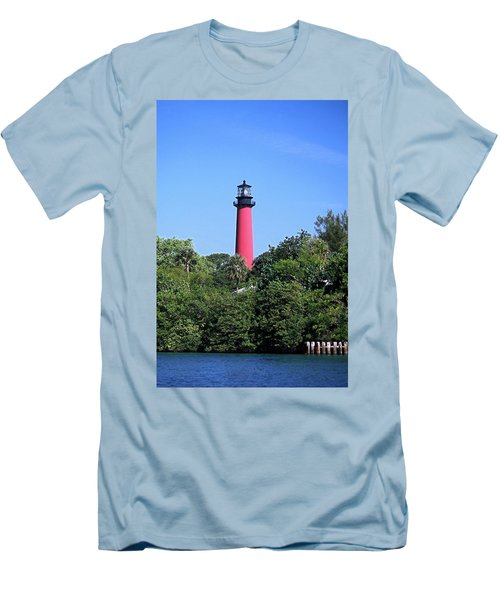Jupiter Lighthouse Men's T-Shirt (Slim Fit) by Sally Weigand