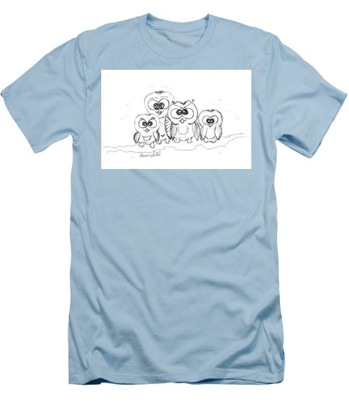 Just The Four Of Us Men's T-Shirt (Slim Fit) by Ramona Matei