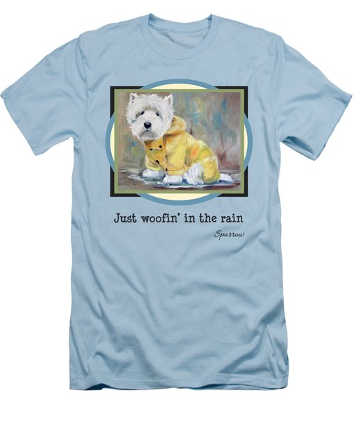 Just Woofin' In The Rain Men's T-Shirt (Athletic Fit)