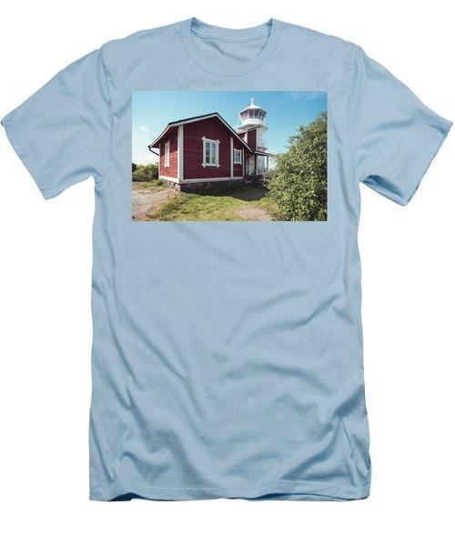 Men's T-Shirt (Slim Fit) featuring the photograph Kallo Lighthouse by Ari Salmela