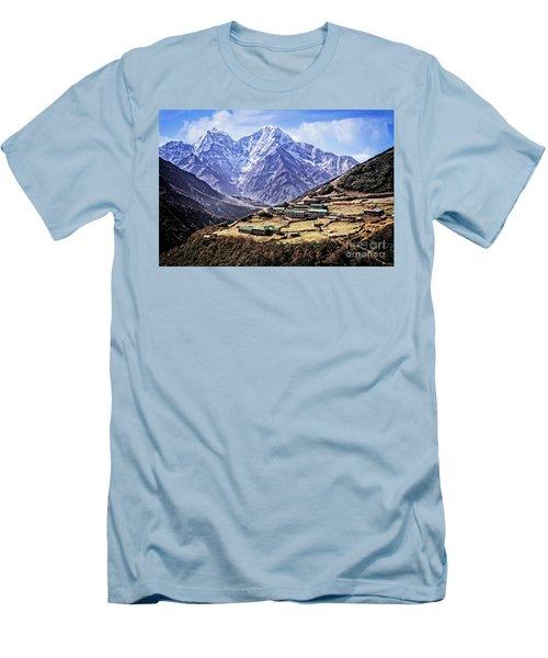Kangtega And Thamserku Men's T-Shirt (Athletic Fit)