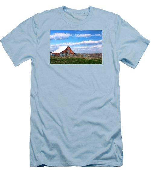 Kansas Farm Men's T-Shirt (Slim Fit) by Joan Bertucci