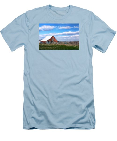 Kansas Farm Men's T-Shirt (Athletic Fit)
