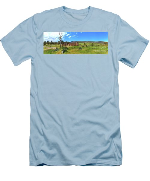 Men's T-Shirt (Slim Fit) featuring the photograph Kanyaka Homestead Ruins by Bill Robinson