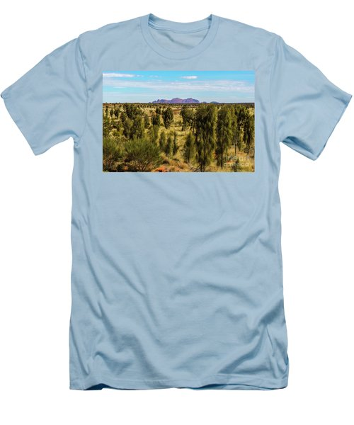 Men's T-Shirt (Athletic Fit) featuring the photograph Kata Tjuta 01 by Werner Padarin