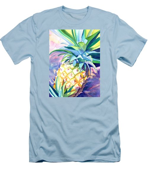 Men's T-Shirt (Slim Fit) featuring the painting Kauai Pineapple 3 by Marionette Taboniar