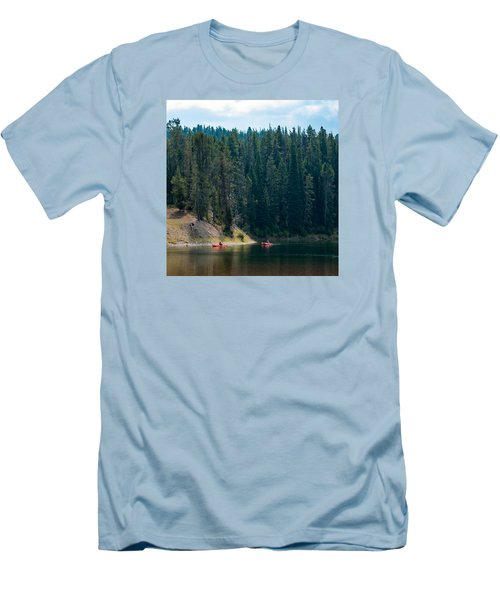 Men's T-Shirt (Slim Fit) featuring the photograph Kayakers by Cathy Donohoue