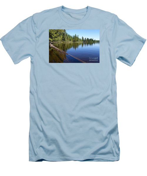 Men's T-Shirt (Slim Fit) featuring the photograph Kayaking Serenity by Sandra Updyke