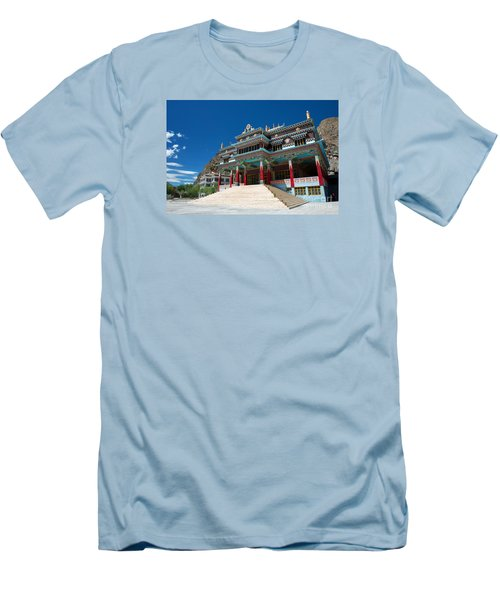 Men's T-Shirt (Athletic Fit) featuring the photograph Kaza Monastery by Yew Kwang