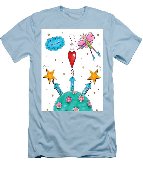 Keep At It Men's T-Shirt (Slim Fit) by Tracy Campbell