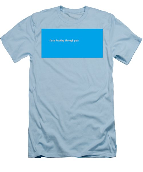Men's T-Shirt (Athletic Fit) featuring the digital art Keep Pushing by Aaron Martens