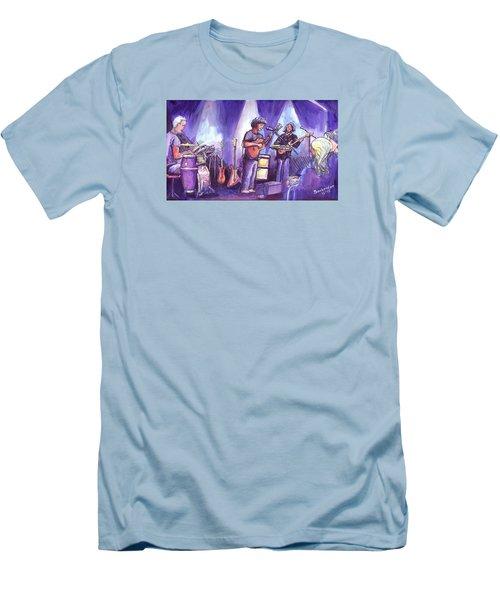 Keller And His Compadres Men's T-Shirt (Slim Fit) by David Sockrider
