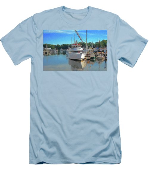 Men's T-Shirt (Slim Fit) featuring the photograph Kennebunk, Maine - 2 by Jerry Battle