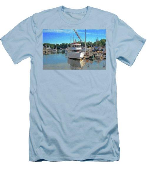 Kennebunk, Maine - 2 Men's T-Shirt (Slim Fit) by Jerry Battle