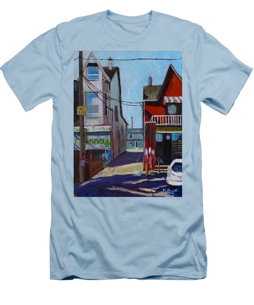 Kensington Market Laneway Men's T-Shirt (Slim Fit) by Diane Arlitt