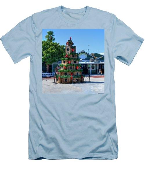 Key West Christmas Men's T-Shirt (Athletic Fit)