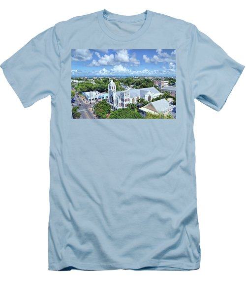 Men's T-Shirt (Slim Fit) featuring the photograph Key West by Olga Hamilton