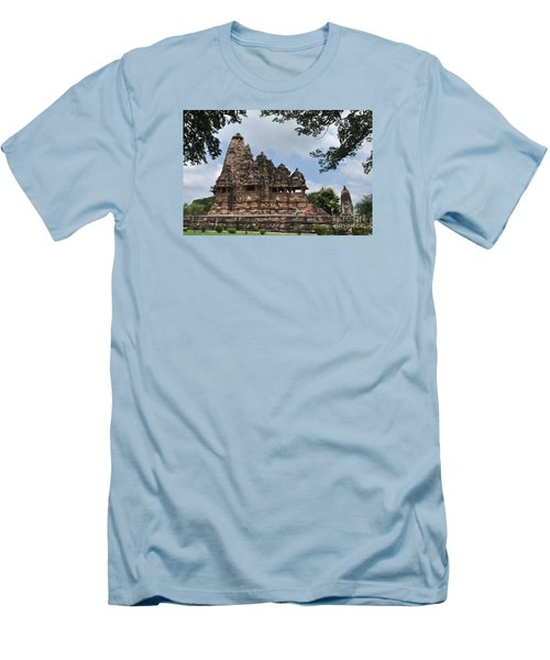 Khajuraho Temples 4 Men's T-Shirt (Athletic Fit)