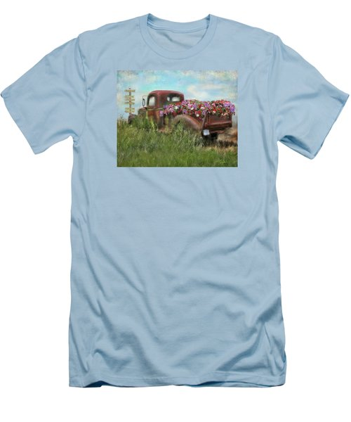 Kicks On Route 66 Men's T-Shirt (Slim Fit) by Colleen Taylor