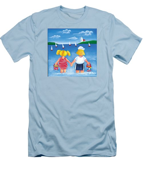 Kids In Door County Men's T-Shirt (Slim Fit) by Pat Olson